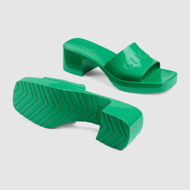 Gucci Rubber Slide Green