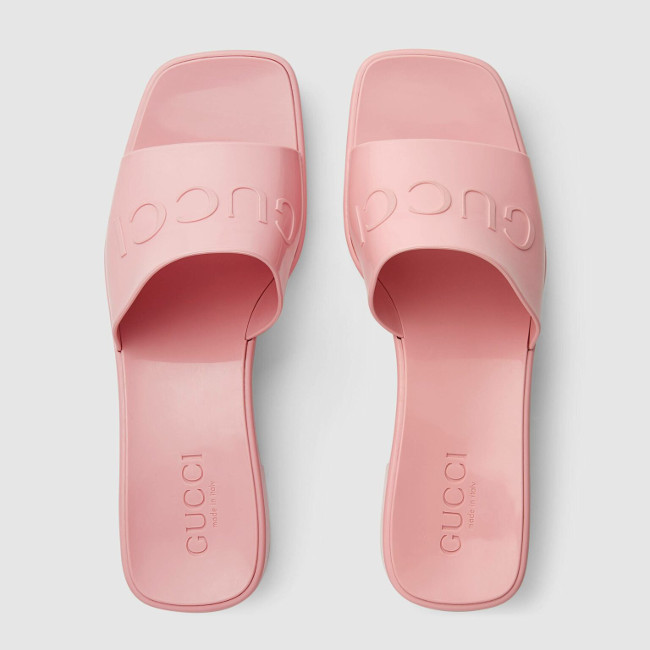 Gucci Rubber Slides Pink